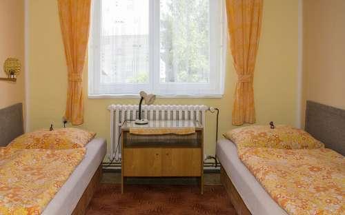 Dvoulůžkové pokoje v penzionu