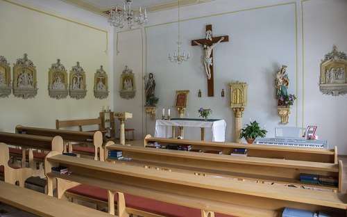 Kaple v penzionu