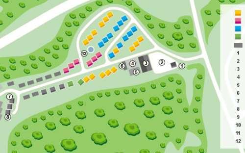 Kemp Resort Dešná - mapa areálu