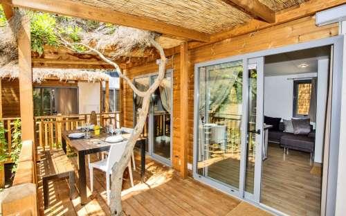 Mobilní dům - veranda