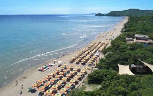 Strand von Santapomata Campingplatz