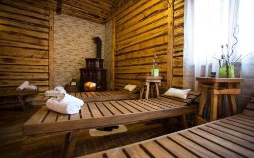 Odpočinková zona u sauny