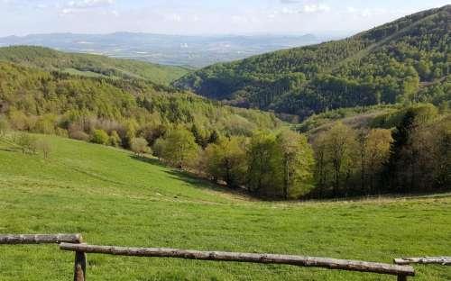 Okolí penzionu v Krušných horách