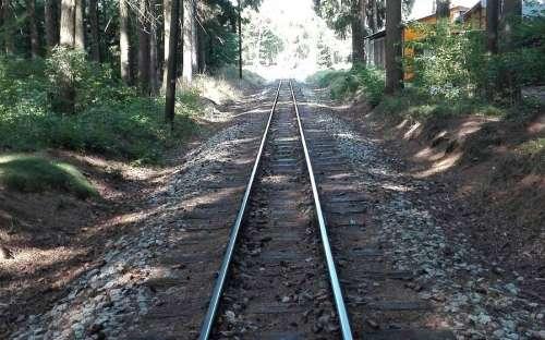 Úzké koleje vedou do kempu Osika