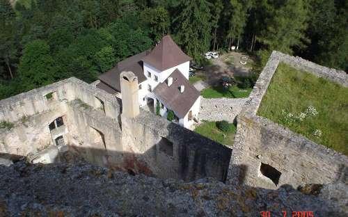 Pohled z věže Landštejna