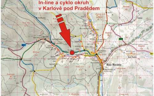 In-line en fietstocht in Karlov pod Pradědem