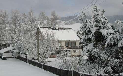 Penzion Sobotín - v zimě