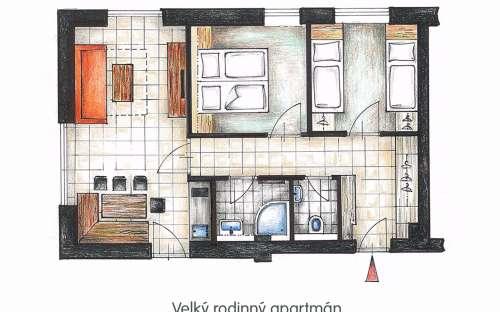 Plattegrond - Groot familie appartement