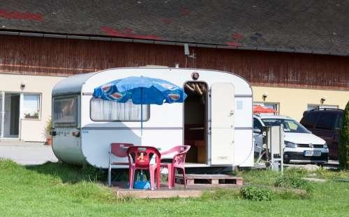 Kemp Lipno - karavan