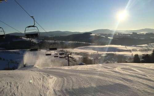 家から300 mのスキーリゾートSkitechKunčice