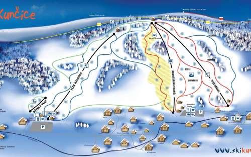 オロモウツ州のクニツェスキーリゾートの地図