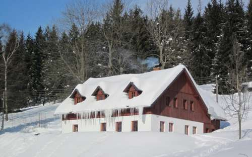 Penzion v zimě
