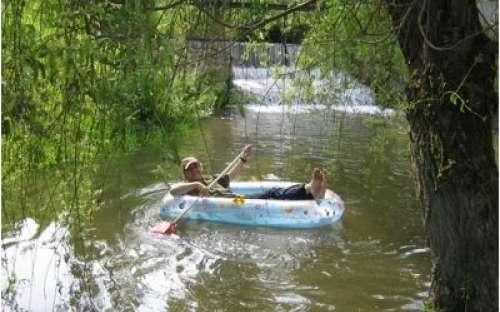 projížďka na loďce - říčka Olšavka