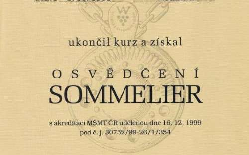 Ocenění sommelier Jiří Dočekal, Vinařská akademie Valtice