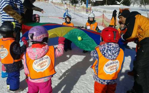 Dětská školička lyžování