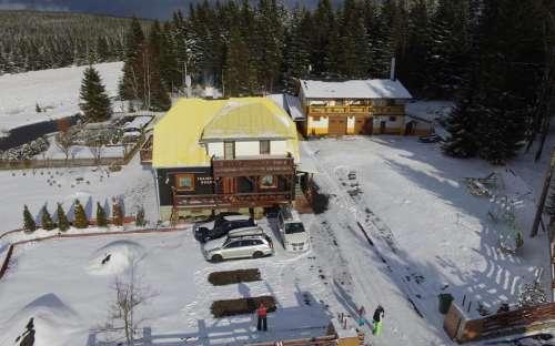 Bergunterkunft an der Skipiste des Erzgebirges