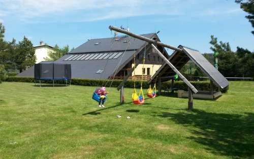 Zahrada pro děti v penzionu