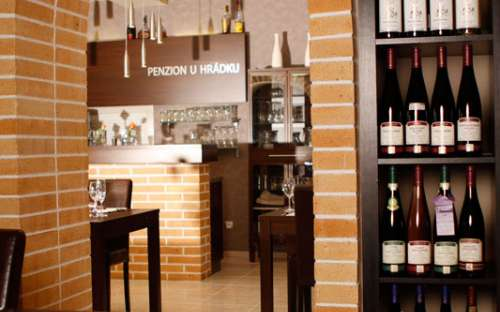 restaurant with a wine shop