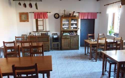 Stylový salonek v penzionu u Hroznu
