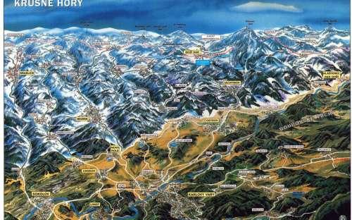 Mapa Krušné hory