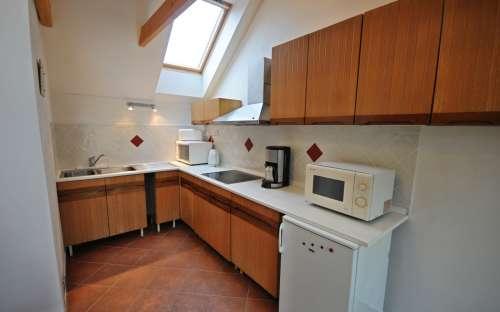 Penzion Žuhansta - Apartmá duplex, kuchyňský kout