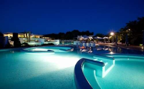 Kemp Rocchette - noční plavání