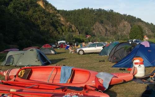 Kem und der Campingplatz U jezu - Račice