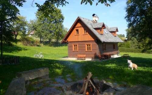 Roubenka Jílové u Držkova, chaty Jizerské hory, Liberecký kraj
