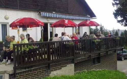 Kemp a středisko Královec - terasa restaurace