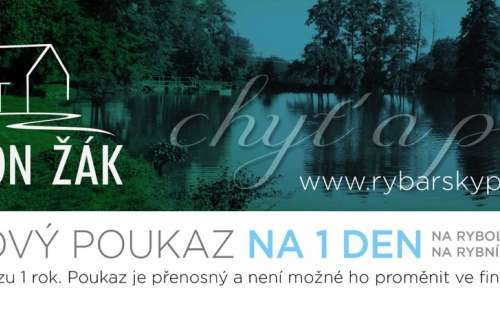 Gift voucher for 1 day of fishing