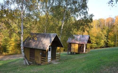 Camping Maják Slapy - Hütten