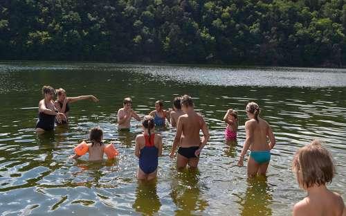 Camping Maják Slapy - schwimmen