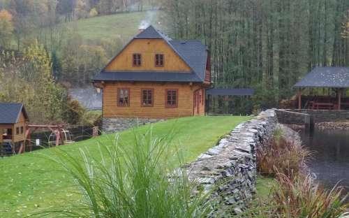 Roubenka u rybníka - chaty Olomoucký kraj