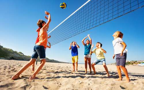 Camping California - beach voleyball
