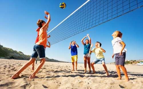 Camping California - beach voleyball