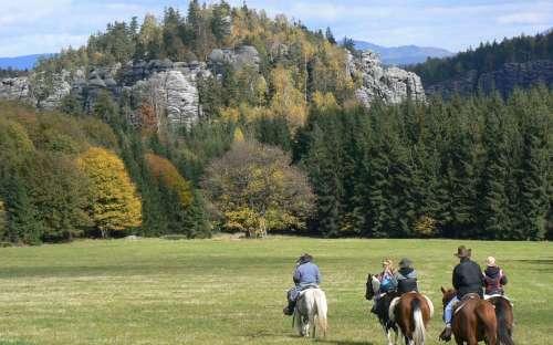 Vyjížďky na koních Adršpašsko-Teplické skály