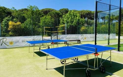 Camping Rocchette-Tischtennis