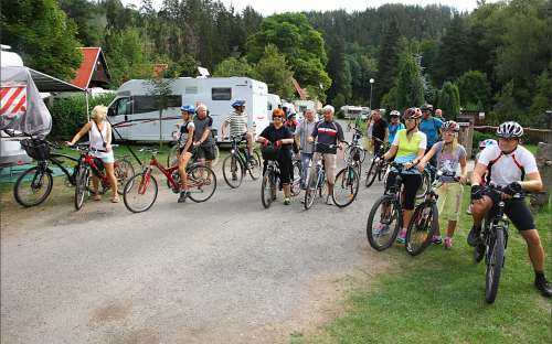 Camping Karolina - cyklist