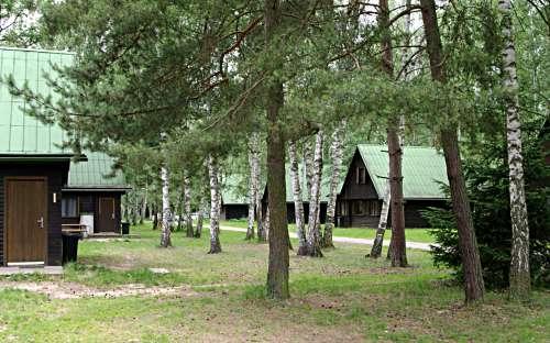 Kemp Stříbrný rybník - chatky