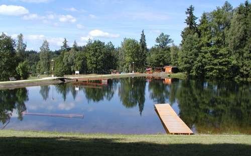Autokemp Slunečná - swimming