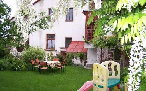 Zahrada penzionu Hořice
