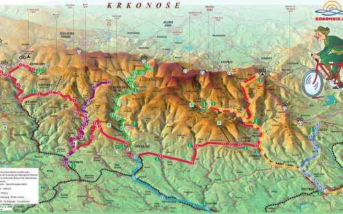 Cykloturistika v Krkonoších