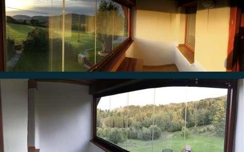 Zimní balkony v patře - každý velký obývací pokoj/apartnám v patře je vybaven prostorným zimním balkonem.