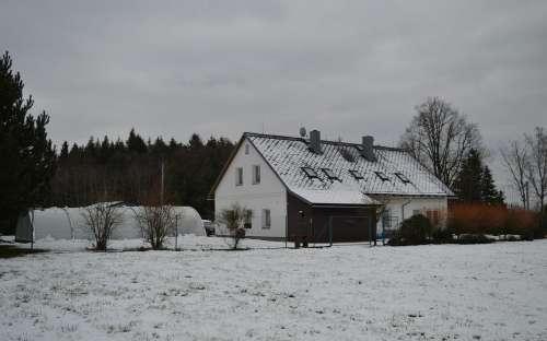 Pension in de winter
