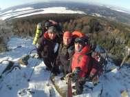 Stanování v zimě - Krušné hory