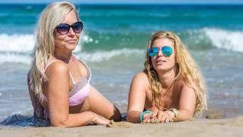 pláž žena