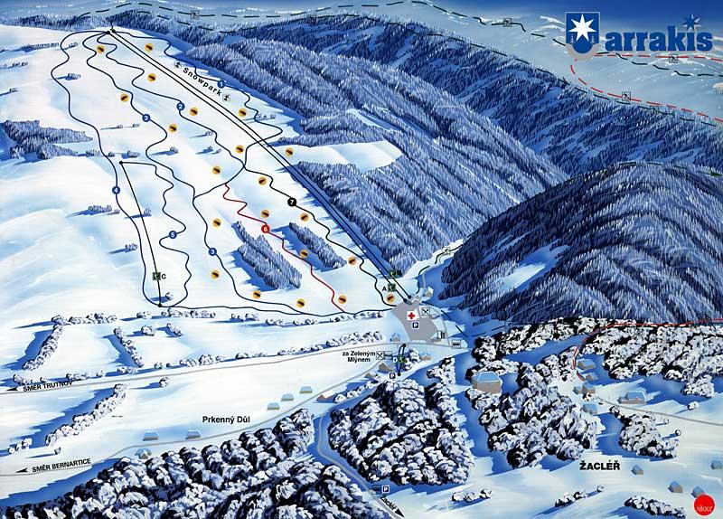 Ski areál Žacléř - 2 km od Lampertic