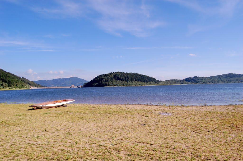 Jezero Bukowka - rekreace pro rodiny s dětmi